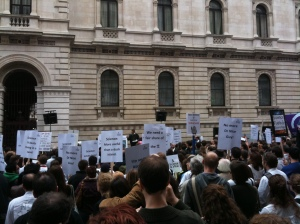Science is vital rally in Whitehall